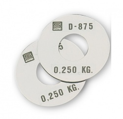 D-875 · RECORD WEIGHT PLATE 0,250 KG.