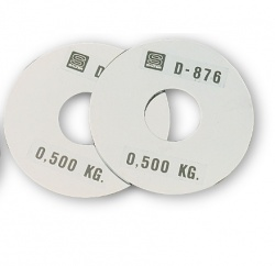 D-876 · RECORD WEIGHT PLATE 0,500 KG.